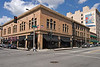 Old Pasadena : Old Pasadena was the social and economic center of town in the 1880's when Pasadena began to take life. Originally Victorian in style, the facades of buildings along Colorado Boulevard were cut back 14 feet to allow widening of the street in 1929. Victorian was no longer in style so most facades were redesigned in Art Deco and Mediterranean styles that were popular in 1929. These photos, taken over a 2 year period, include buildings from St Andrews Catholic Church above Walnut Street to the Castle Green below Green Street (originally named Kansas Street), from Tanner's Market at Pasadena Avenue on the west to the Chamber of Commerce Building at Arroyo Boulevard on the east.